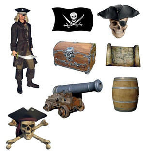 Pinboard Magnets Ghost Ship Pirates Set with 8 pcs.