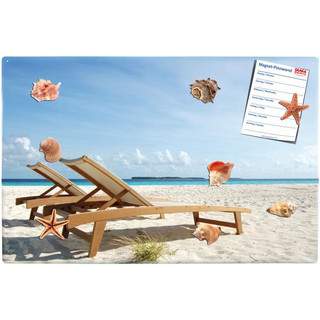 Magnetic pinboard Beach 60x40 cm incl. 8 magnets