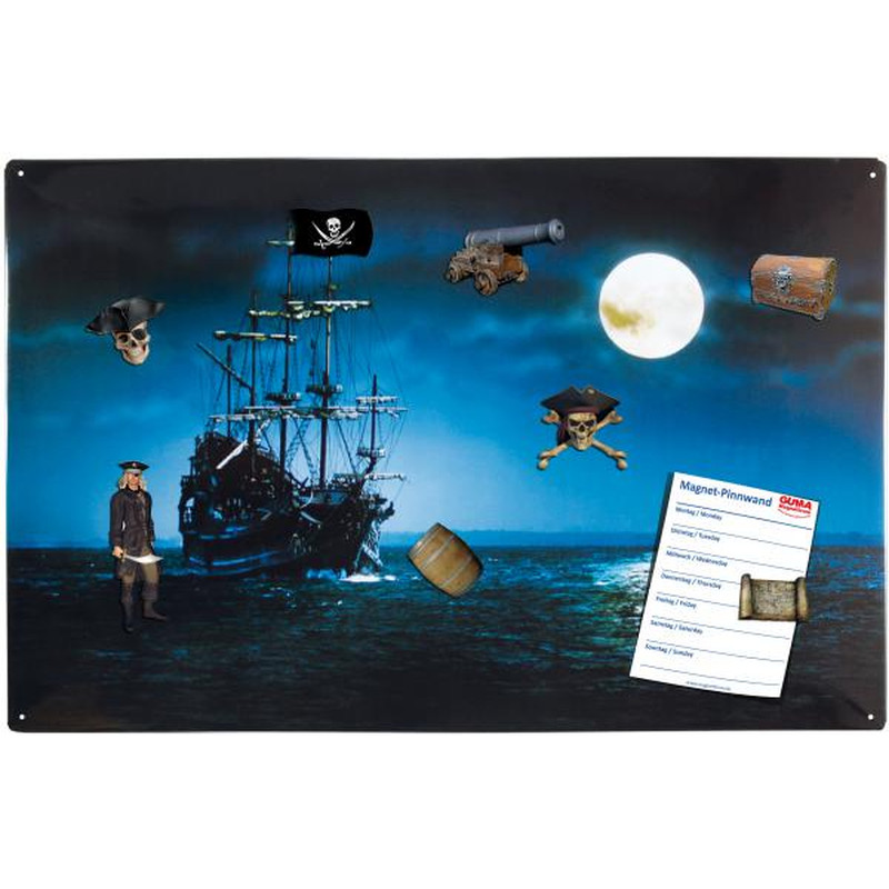 Magnetpinnwand Piratenschiff 60x40 cm inkl. 8 Magnete