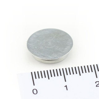 Memo magnet with steel case Ø 15 x 3,5 mm Neodymium