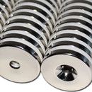 Neodymium magnets Ø40xØ8,5x6 with counterbore South NdFeB N40 - pull force 28 kg -