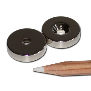 Neodymium magnets Ø20xØ4,2x5 with counterbore North NdFeB...