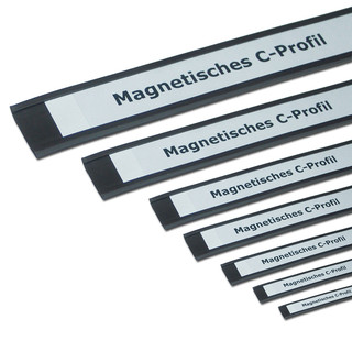 Magnetic C-Profiles 25 mm x rm. / Label holders Set
