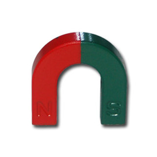 Small U-Shape magnet Ferrite red / green - 30 x 30 x 7 mm