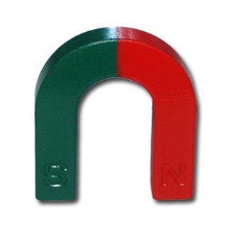 U-Shape magnet Ferrite red / green - 67 x 54 x 12 mm