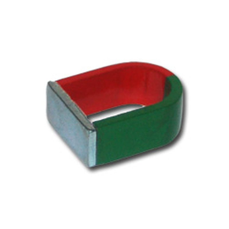 U-Shape magnet AlNiCo red / green - 25 x 20 x 10 mm