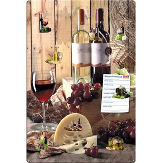 Magnetic pinboard Local wines 60x40 cm incl. 8 magnets