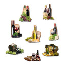 Pinboard Magnets Wine Set with 8 pcs.