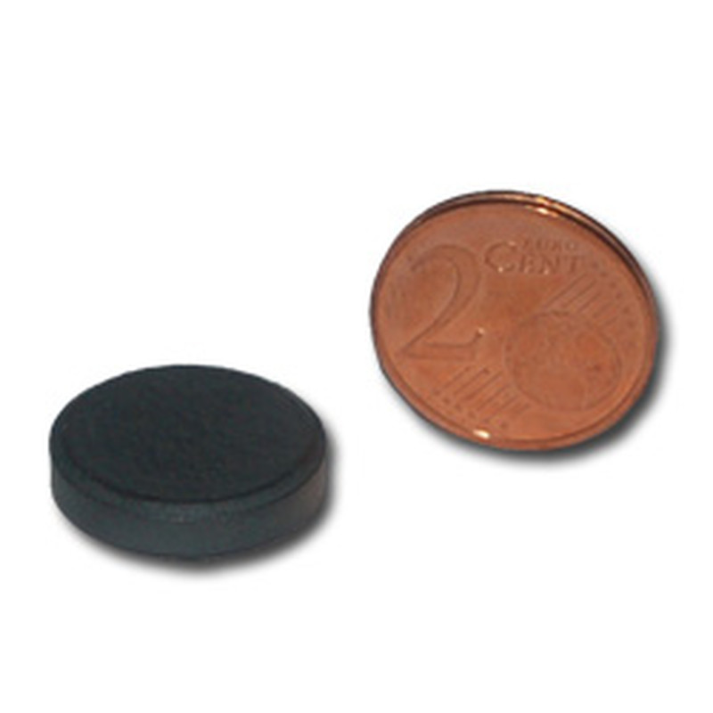 Hard ferrite Magnets Ø18x4 Y30BHT - pull force 100 g