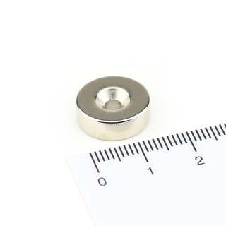Neodymium magnets Ø15xØ3,5x5 with counterbore North NdFeB...