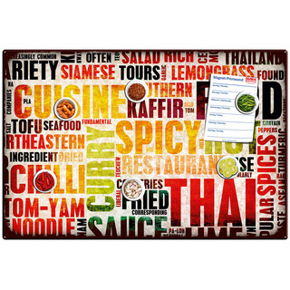 Magnetic pinboard Spicy Food 60x40 cm incl. 6 magnets