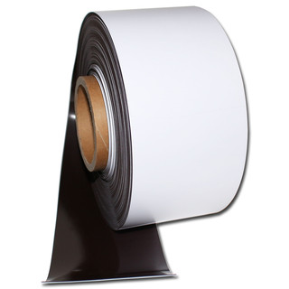Magnetic tape Anisotropic White glossy / washable 100mm x...