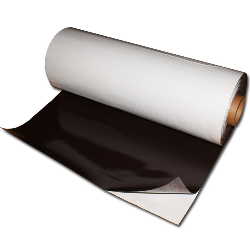 Magnetic foil Anisotropic 620mm x 0,9mm x rm. Plain Brown self-adhesive 3M 9448A