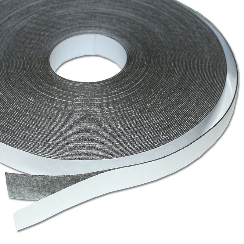 Ferro rubber steel tape self-adhesive White mat 20mm x 0,8mm x rm. writeable