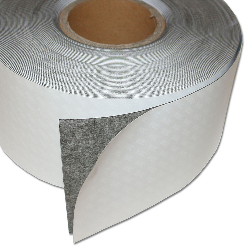 Ferro rubber steel tape self-adhesive White mat 100mm x 0,8mm x rm. writeable