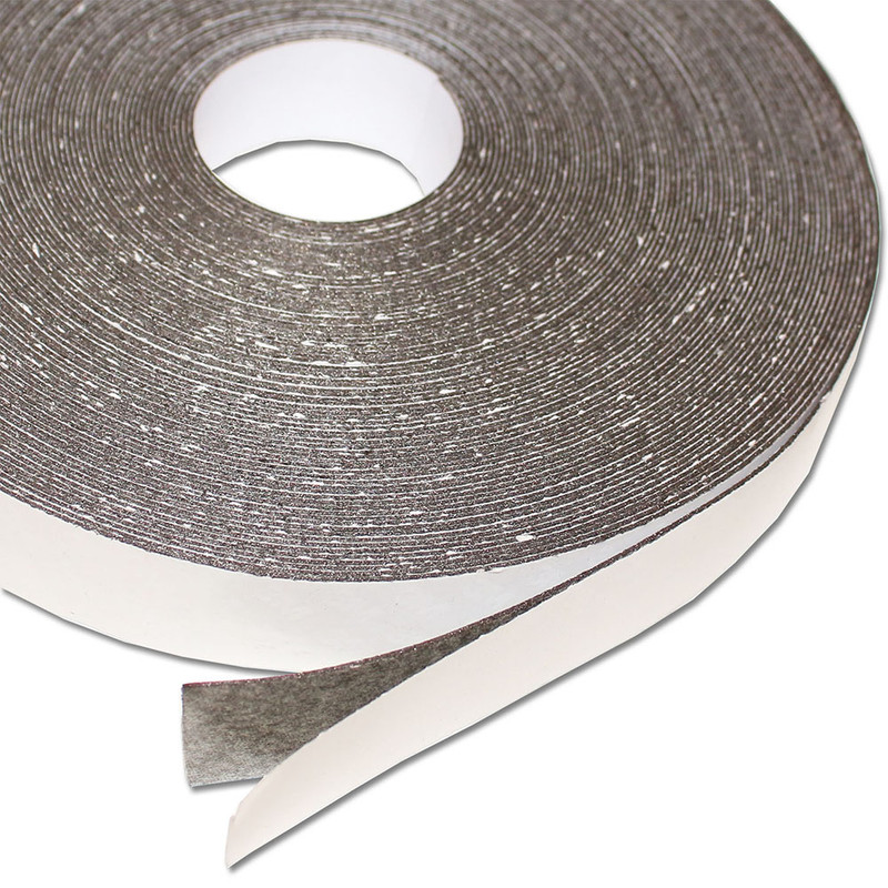 Ferro rubber steel tape self-adhesive White glossy 25mm x 0,8mm x rm. writeable