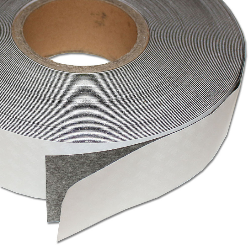 Ferro rubber steel tape self-adhesive White glossy 50mm x 0,4mm x rm. writeable