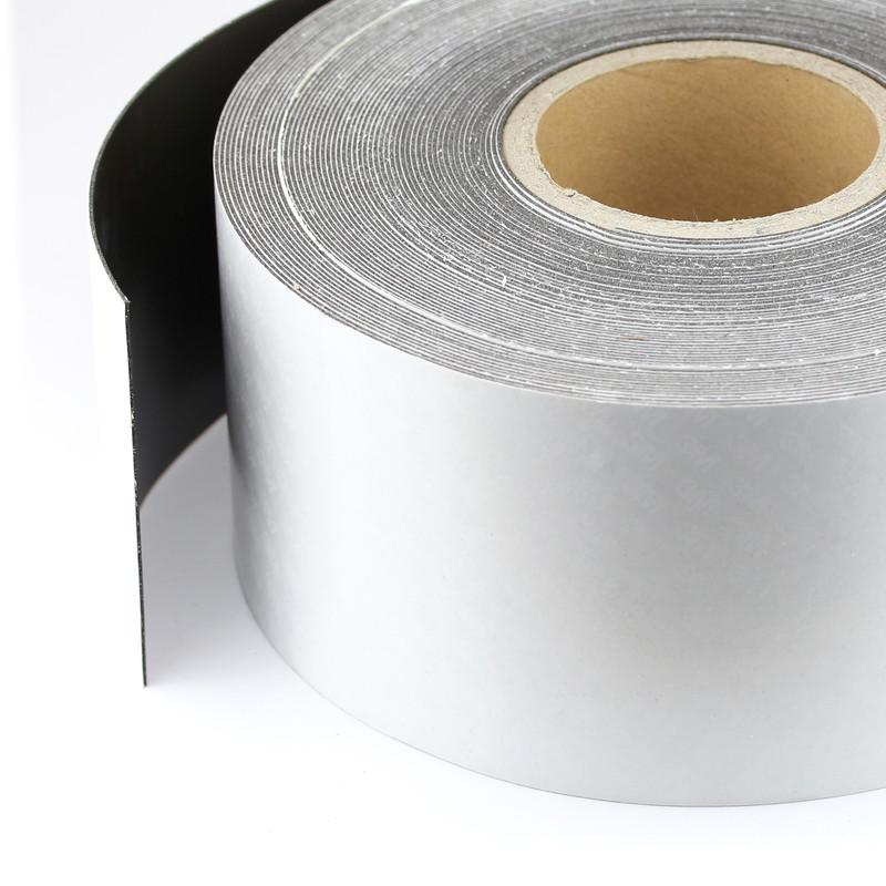 Ferro rubber steel tape self-adhesive Plain brown 100mm x 1,0mm x rm. uncoated