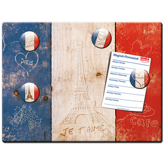 Magnetic pinboard Flag Amour pour la France 40x30 cm...