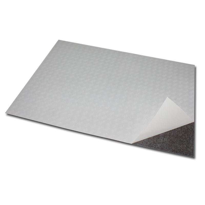 selbstklebend Eisenfolie weiß matt DIN A Formate 0,8mm Magnetfolie Ferrofolie