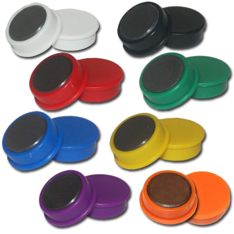 5 Pinnwand Herz Magnete Weiß aus Hart Ferrit Magnettafel Kühlschrank Bunt