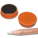 Pinnwand Magnete Ø25x7 mm Hartferrit - Orange