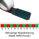 Magnetic foil Anisotropic 120x120x0,4 mm White Glossy wipeable