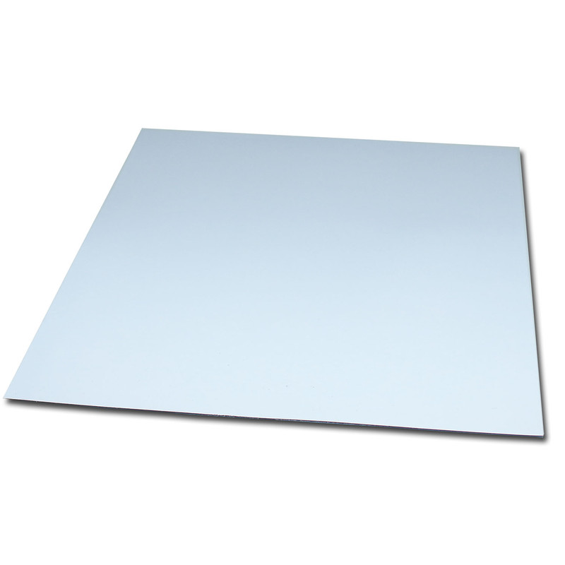 Magnetic foil Anisotropic 200x200 mm White Glossy wipeable