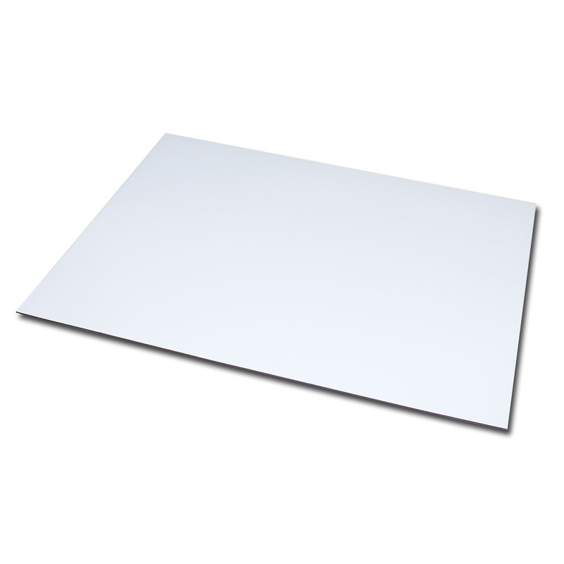 Magnetic foil Anisotropic DIN A5 148x210x0,4 mm White Glossy wipeable