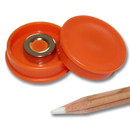 Pinnwand Magnete Ø30x8 mm Neodym - Orange