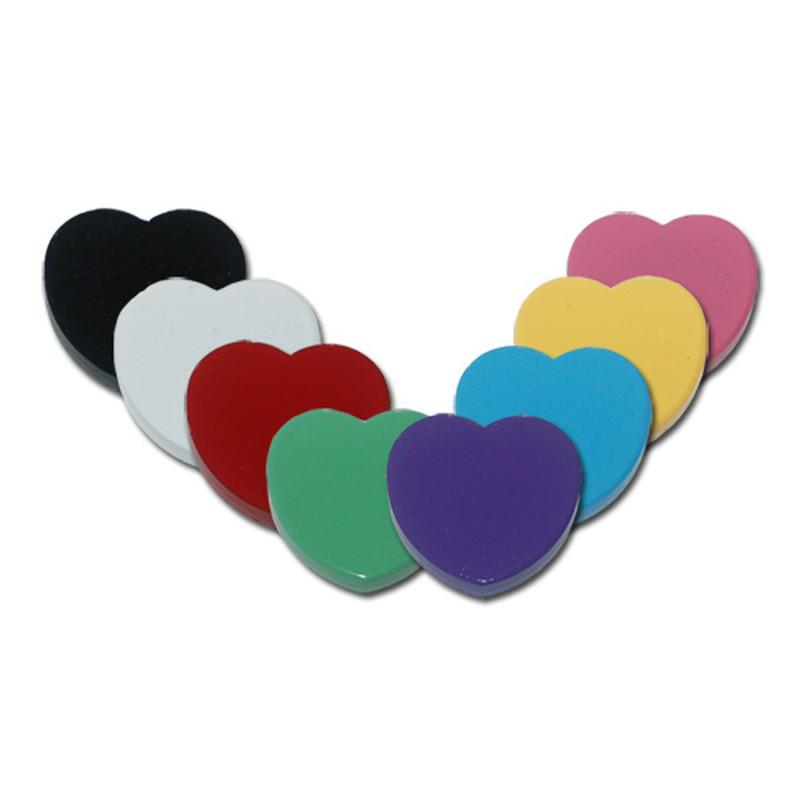 Herz Magnete Ferrit 30 mm bunt Hinweismagnete Kühlschrank