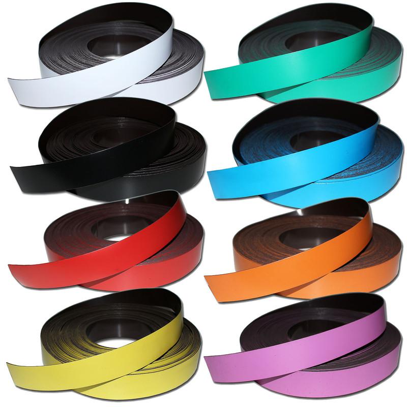 Magnetfolie Magnetband PVC Beschreibbar Magnettafel Folien Set 6 Farben Bunt
