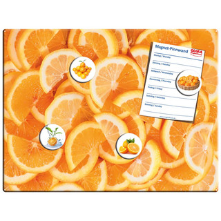 Magnetic pinboard Orange Slices 40x30 cm incl. 4 magnets