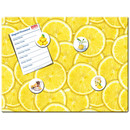Magnetic pinboard Lemon Slices 40x30 cm incl. 4 magnets
