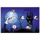 Magnetic pinboard Ghost Castle 60x40 cm incl. 6 magnets