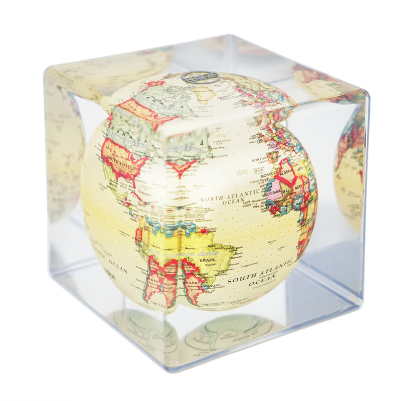 MOVA Globe Cube Magic Floater Antique Map - silently rotating Globe