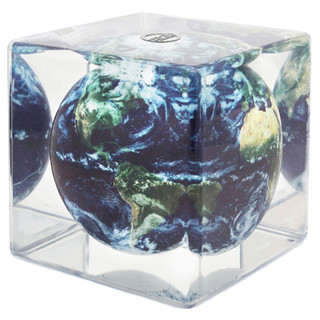 MOVA Globe Cube Magic Floater Satellitenansicht mit...