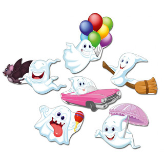 Pinboard Magnets Happy Ghosts Set with 6 pcs.