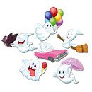 Pinnwandmagnete Gespenster Happy Ghosts 6er Set Magnetpins