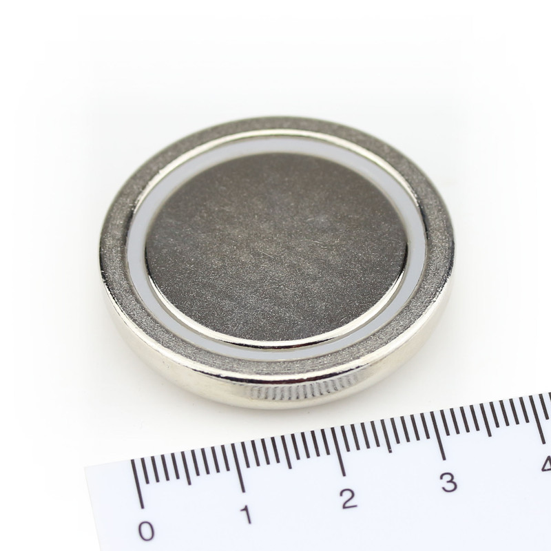 Neodymium flat pot magnets Ø36x8 mm