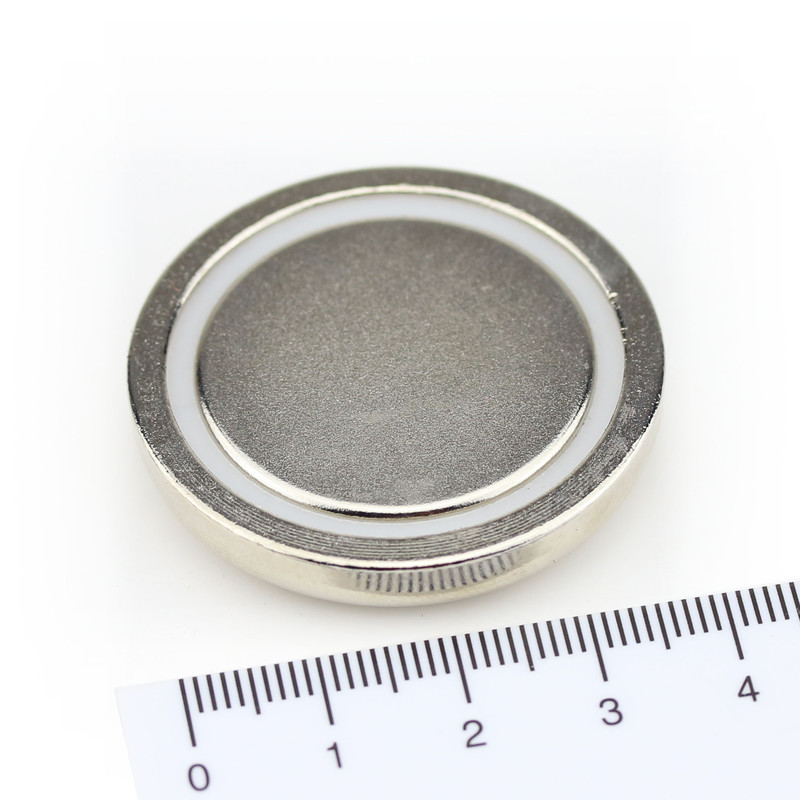 Neodymium flat pot magnets Ø40x8 mm