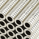 Neodymium ring magnets Ø12xØ7x3 NdFeB N45 - pull force 1,8 kg -