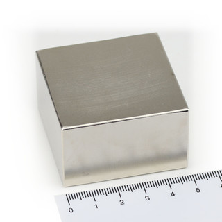 Neodymium Magnets 50x50x30 NdFeB N45 - pull force 185 kg