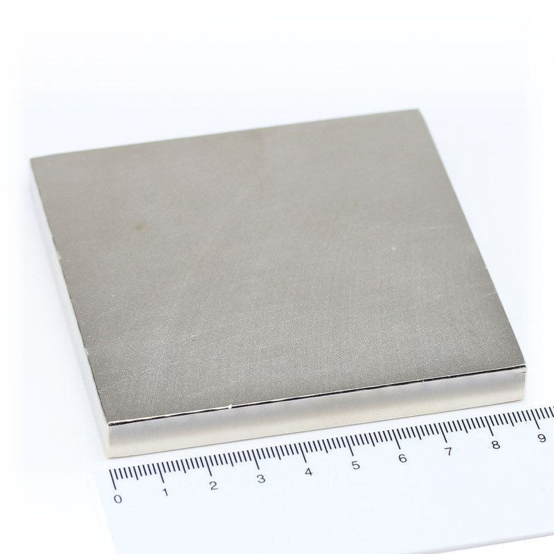 Neodymium Magnets 90x90x10 NdFeB N45 - pull force 190 kg