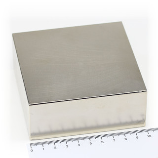 Neodymium Magnets 100x100x40 NdFeB N45 - pull force 520 kg