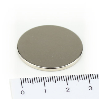 Neodymium Magnets Ø30x2 NdFeB N45 - pull force 9 kg
