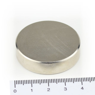 Neodymium Magnets Ø40x10 NdFeB N45 - pull force 55 kg