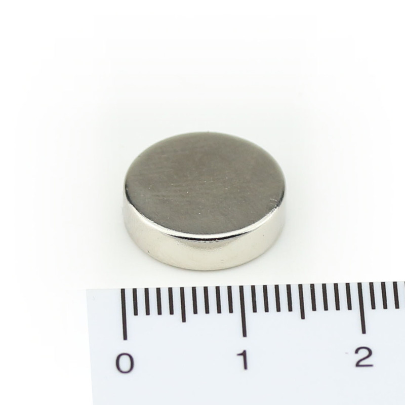 Neodymium Magnets Ø14x4 NdFeB N45 - pull force 3,9 kg