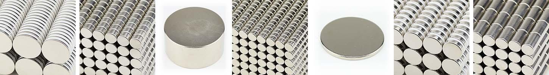1 bis 100 Neodym Scheibenmagnet D 4x10 mm N45 Nickel Stabmagnet//Scheibenmagnete