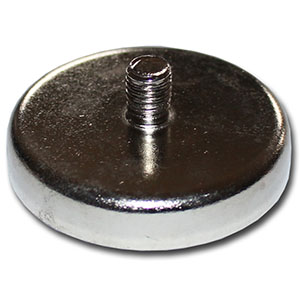 Pot magnets with threaded neck